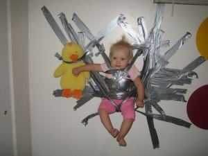 Duct Tape...the other babysitter.